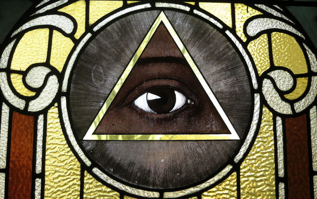 Saint Raphael Catholic Church (Springfield, Ohio) - stained glass, Eye of Providence